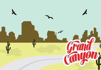 Vector Illustration of Grand Canyon - vector gratuit #329379