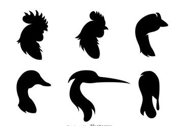 Fowl Head Silhouette - vector #329389 gratis
