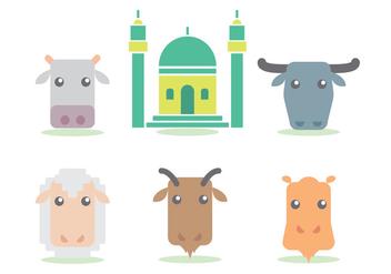 Eid Al Adha Vector Set - Free vector #329499