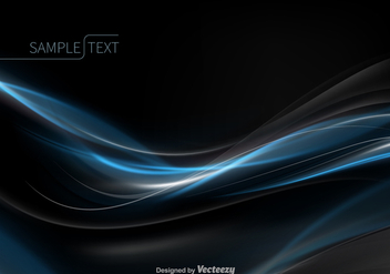 Abstract blue wave vector - Free vector #329779