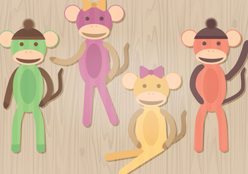 Sock Monkey Vector Illustration - vector #329829 gratis
