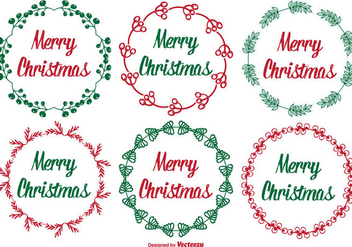 Cute Christmas Label Set - Kostenloses vector #330149