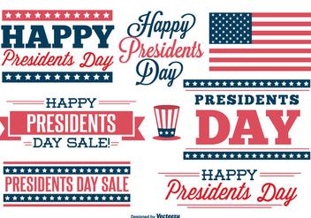 Presidents Day Label Set - Kostenloses vector #330489