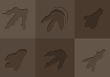 Dinosaur Footprint Vectors - Kostenloses vector #330499