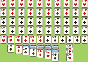 Solitare Cards Pixel Style - Free vector #330579