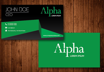 Business Card - vector #330609 gratis