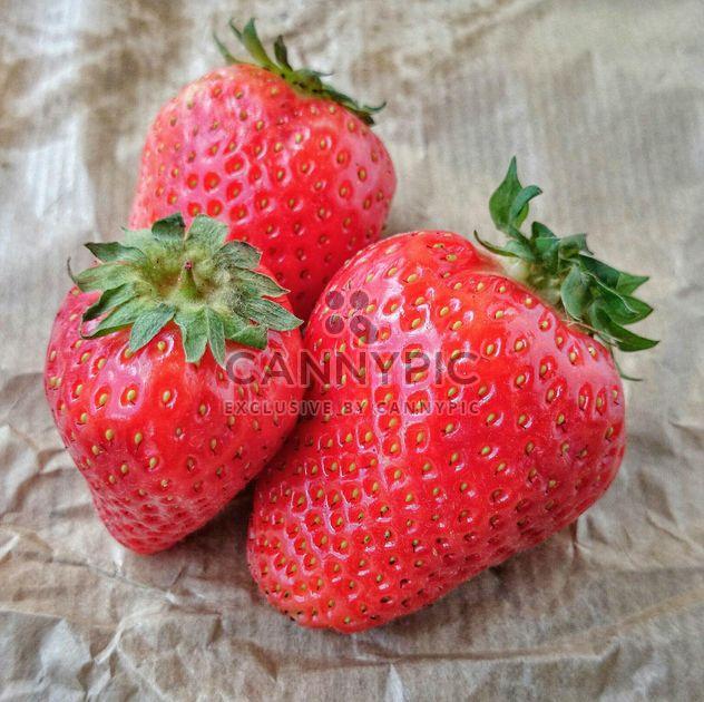 Three strawberries - Free image #330689