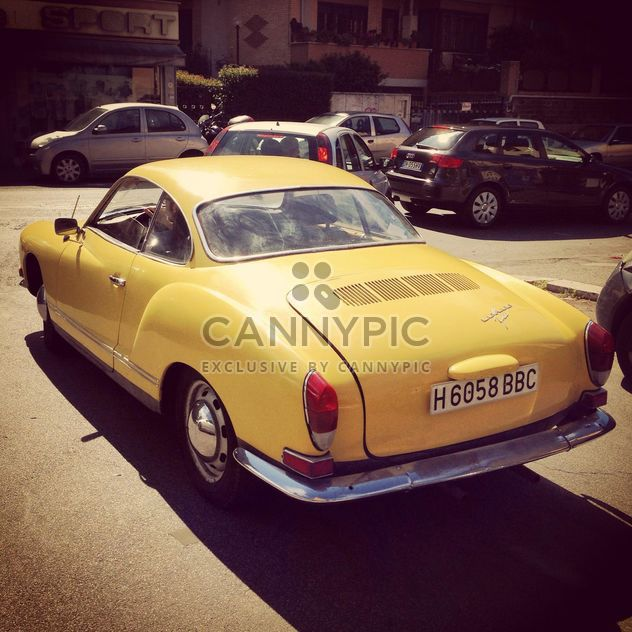 Old yellow car - Free image #331039