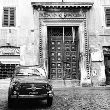 Fiat 500 1960 B&W Roma - бесплатный image #331099