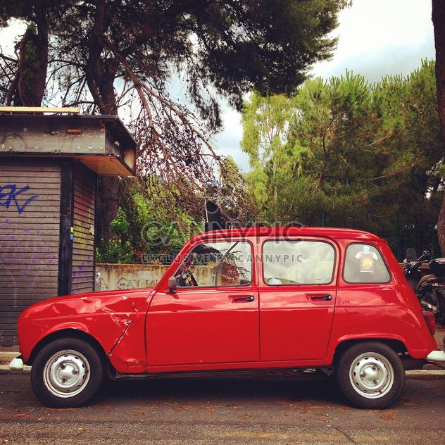Old red Renault car - Free image #331119
