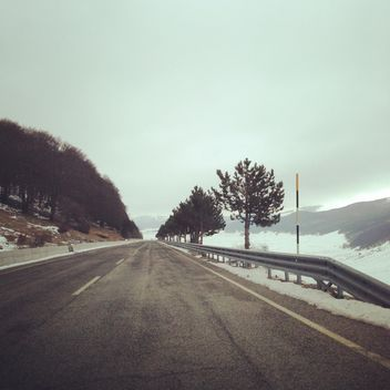 View on road in winter - Free image #331189