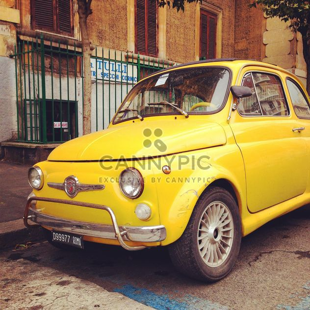 Yellow Fiat 500 car - Free image #331209