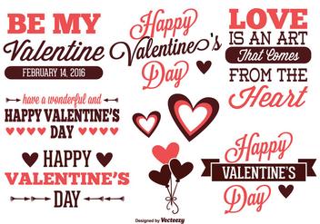 Valentine's Day Label Set - Kostenloses vector #331259
