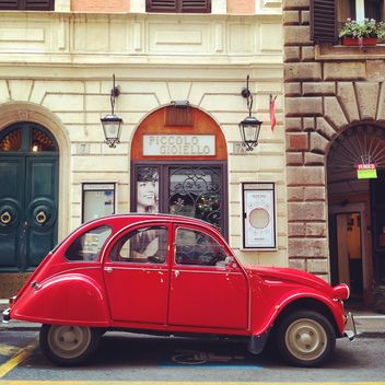 Red Citroen 2CV car - image gratuit(e) #331479