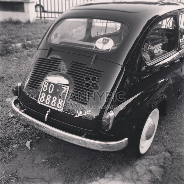 Fiat 600, black and white - Free image #331689