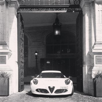 Alfa Romeo 4C, black and white - image gratuit #331849