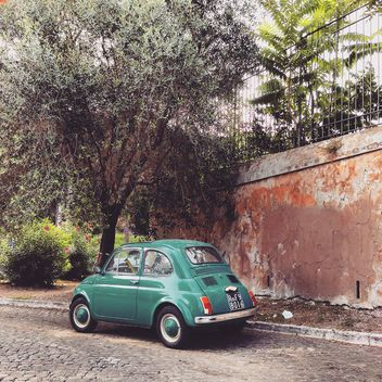 Green Fiat 500 car - Free image #331959