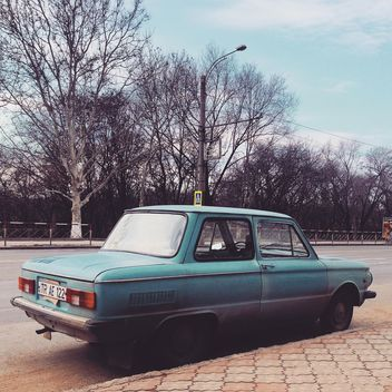 Old blue Soviet car - image gratuit #332089