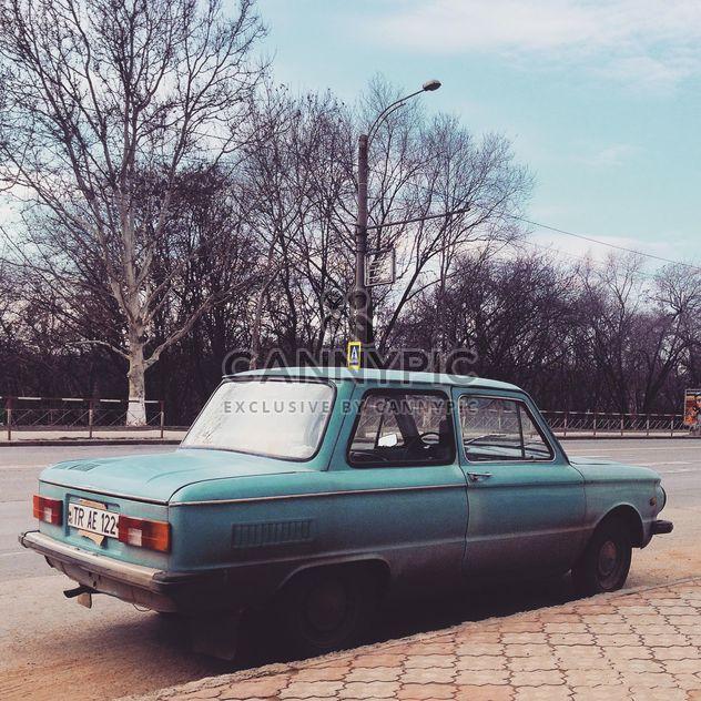 Старый голубой Советский автомобиль - бесплатный image #332089