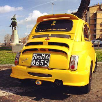 Bright yellow Fiat 500 - Free image #332179