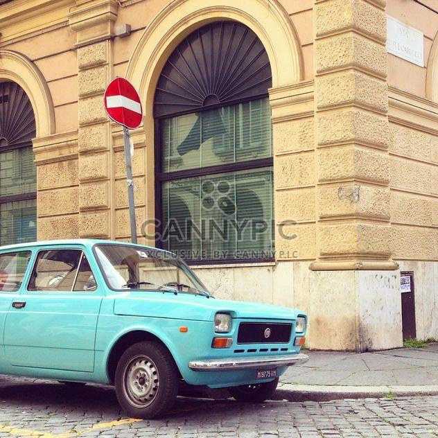 Fiat azul antigo - Free image #332309
