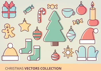 Christmas Icons Vector Set - Free vector #332589