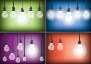 Hanging Light Vectors - vector gratuit #332629