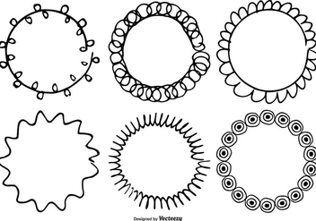 Cute Hand Drawn Frames Set - Free vector #332639