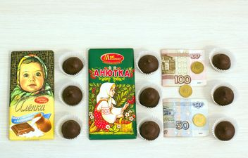Russian bars of chocolate and candies - бесплатный image #332799