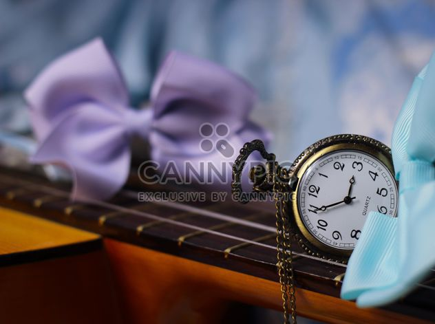 Girly Guitar with colorful bows - Free image #332819