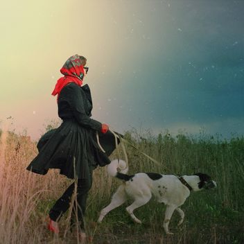 Lady with her dog, #mylook - бесплатный image #332829