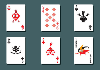 Deck of Cards Vector - Free vector #333009