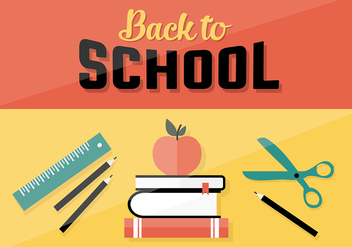 Free Back To School Vector Background - Free vector #333059
