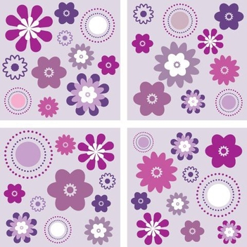 Velvet Floral Background Set - vector #333069 gratis
