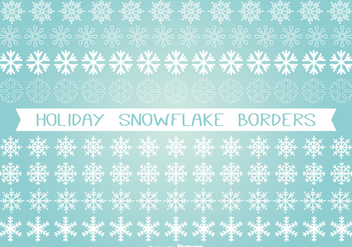 Holiday Snowflake Border Set - Free vector #333379