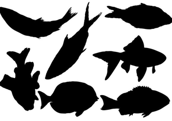 Free Fish Silhouette Vector - Free vector #333479