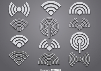 Vector wifi logo vectors - бесплатный vector #333859