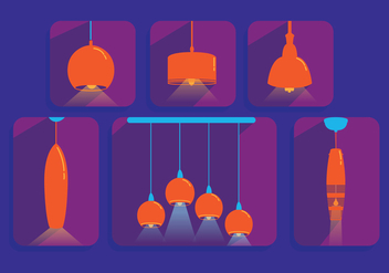 Hanging Light Vector Pendants - vector gratuit #333879