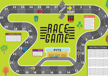 Race Game Vector - vector gratuit #333949