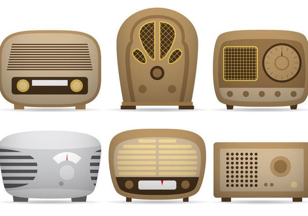 Transistor Radio Vectors - Free vector #333959