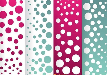 Blue And Magenta Dot Pattern - vector gratuit #334079