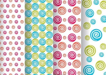 Colorful Swirl Dot Pattern - Free vector #334089