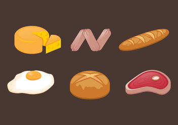 Vector Food llustration Set - Free vector #334399