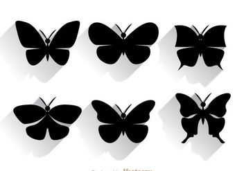 Butterfly Silhouette - Free vector #334439