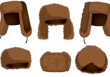 Fur Hat Vectors - Free vector #334449