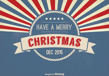 Retro Badge Christmas Greeting Card - Free vector #334469