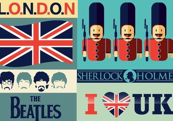 I love UK vector Pack - Free vector #334559