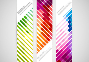 Colorful vertical banner vectors - Free vector #334649