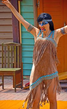 Dancer in a costume of Indian of America - Free image #334689