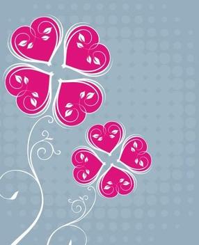 Funky Floral Halftones Card - Kostenloses vector #334899